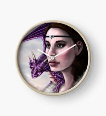 The Witch And Her Dragon Clock