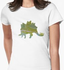 Stegosaurus - Dinosaur Art Womens Fitted T-Shirt