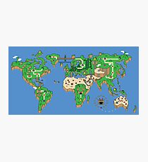 Super Mario Bros style Earth Map Photographic Print