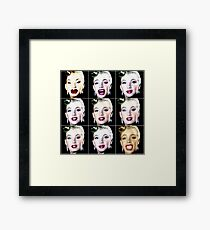 Blond Puppet called figurine converted and transfigured Framed Print