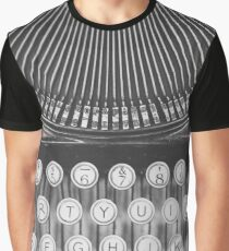 Vintage Typewriter Study Graphic T-Shirt
