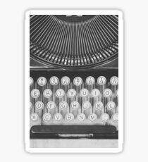 Vintage Typewriter Study Sticker