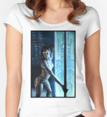 Cyberpunk Painting 046 Women's Fitted Scoop T-Shirt
