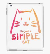 I'm Just a Simple Cat (bright version) iPad Case/Skin