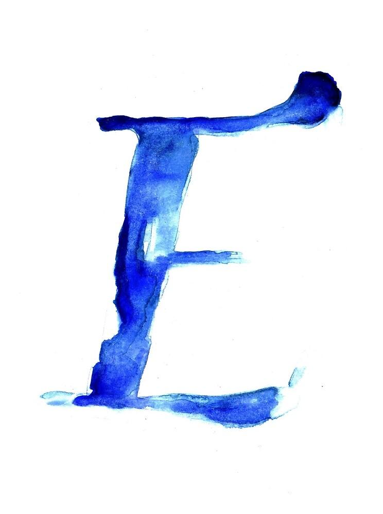Alphabet E by Bridget Davidson