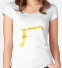Alphabet F Women's Fitted Scoop T-Shirt