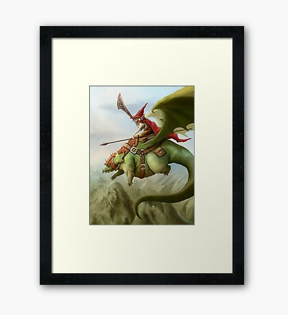 His name is Fatty Framed Print
