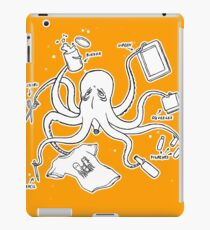 Screen Print Octopus iPad Case/Skin