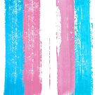 Trans Pride Flag Stripes by queeradise