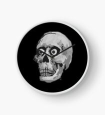 CREEP II (black and white) Clock