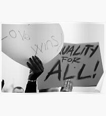 love wins - equality for all Poster