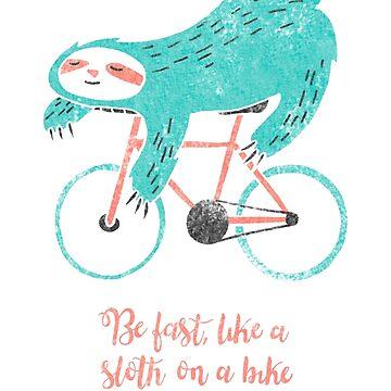 Sloth on a bike by SoniaJodar
