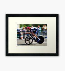 Bradley Wiggins - Sur Le Rivet Framed Print