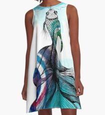 Fish fished A-Line Dress