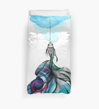 Fish fished Duvet Cover