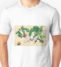 Easter Egg Radishes in Gouache Unisex T-Shirt