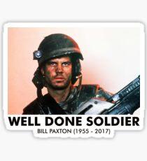 Well Done Soldier Sticker