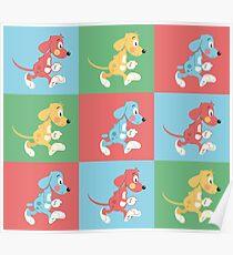 cartoony dogs Poster