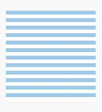 Baby blue and white stripes | Pattern Photographic Print