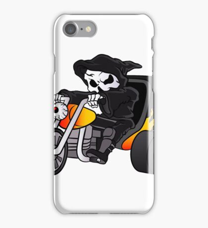 skull ride a big tricycle iPhone Case/Skin
