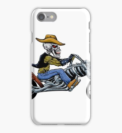 skull ride a big motorcycle iPhone Case/Skin