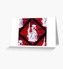 Haunted Mansion Duelist Silhouette Greeting Card