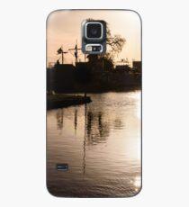 Sonnenuntergang am Kanal Hülle & Klebefolie für Samsung Galaxy