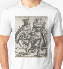 Adriaen Matham - Dansende Hond En Poes, 1660 Unisex T-Shirt