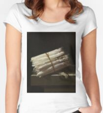 Adriaen Coorte - Still Life With Asparagus, 1697 Women's Fitted Scoop T-Shirt