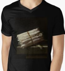 Adriaen Coorte - Still Life With Asparagus, 1697 Mens V-Neck T-Shirt
