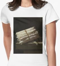 Adriaen Coorte - Still Life With Asparagus, 1697 Women's Fitted T-Shirt