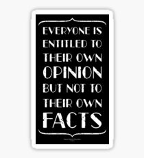 Opinions vs. Facts Sticker