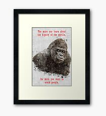 The Dignity of the Gorilla Framed Print