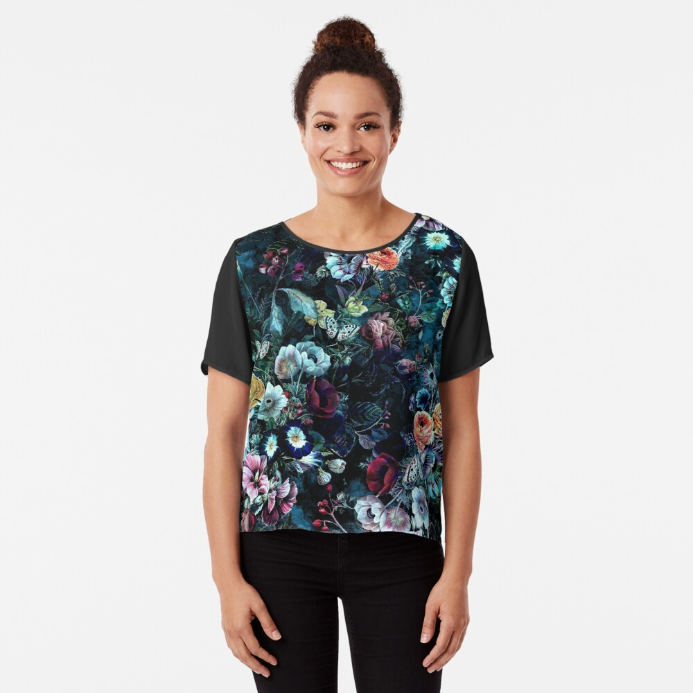 Night Garden Chiffon Top