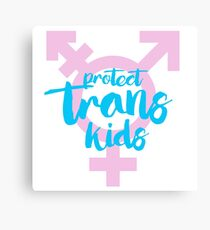 Protect Trans Kids Canvas Print