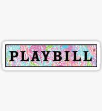 Playbill- Lilly Pulitzer Sticker