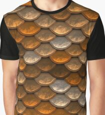 Shimmering mermaid scales in brown and copper tones Graphic T-Shirt