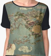 Avatar Map Women's Chiffon Top