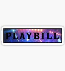Playbill- stage lights Sticker