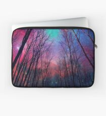 Forest at Night - Starry Sky - Galaxy Space Laptop Sleeve