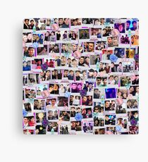 Dan and Phil collage Canvas Print