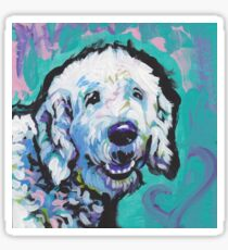 Fun Labradoodle Doodle Dog bright colorful Pop Art Sticker