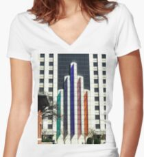 Downtown Fort Worth Women's Fitted V-Neck T-Shirt