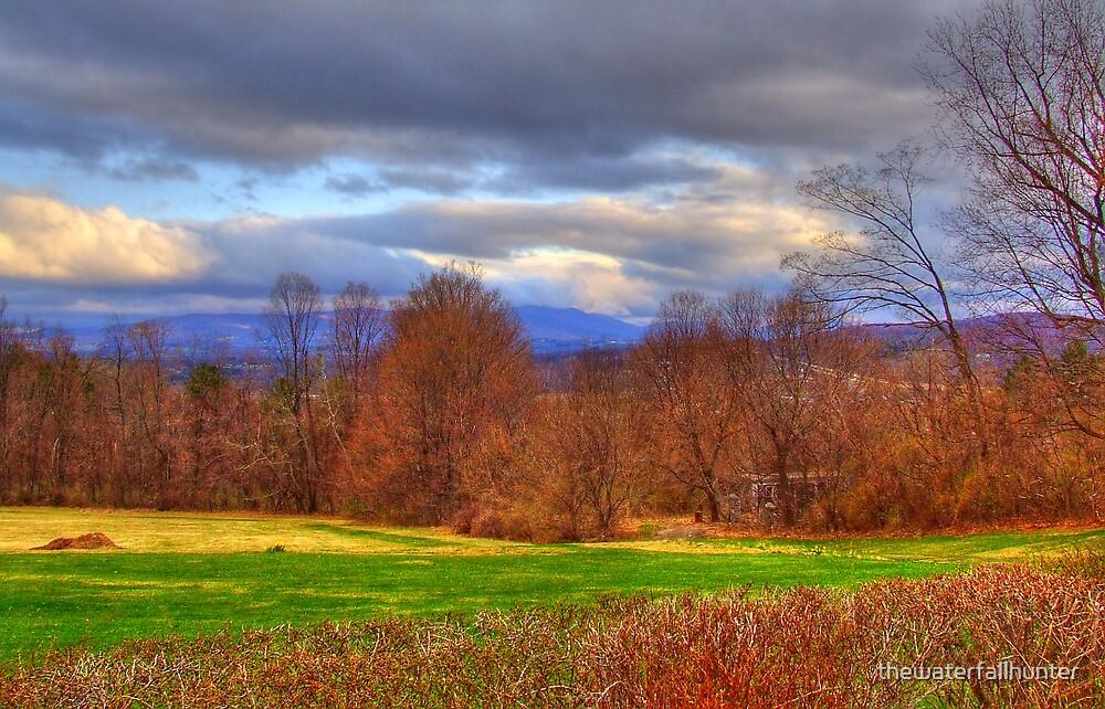 Bennington Vermont Sunrise in Autumn by thewaterfallhunter