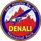 DENALI NATIONAL PARK BY AIR ALASKA VINTAGE AIRPLANE by MyHandmadeSigns