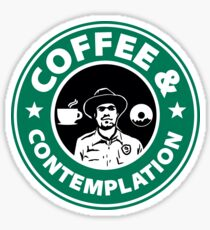 Coffee and Contemplation... Sticker