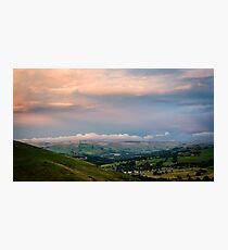 Sunset in the Peaks Photographic Print