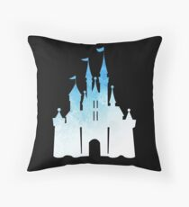 blue childhood dream - edit on black Throw Pillow