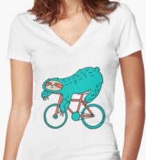 Sloth II Women's Fitted V-Neck T-Shirt