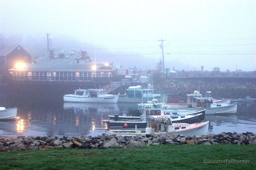 Lobster Boats in the Fog by thewaterfallhunter